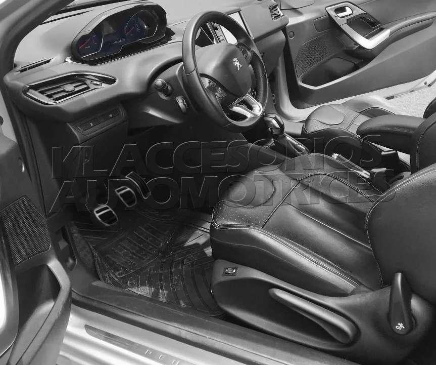 SSG Coche del Pedal de Embrague del Freno Pedales Kit de la Cubierta en Forma for el Peugeot 308 408 4008 5008 viajeros Rifter en Forma for Citroen C5 Aircross Color Name : AT