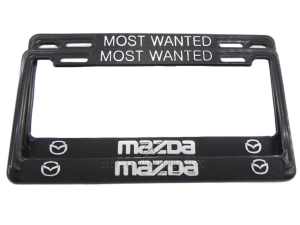 SET DE 2 MARCOS PORTA PLACAS MAZDA MOST WANTED, TAMAÑO NACIONAL